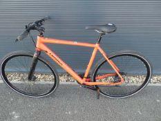 Red Orbea town bike
