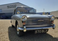 570 BLX (1962) Austin A40 Farina two door saloon in grey and white, Tax class as an Historic