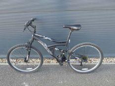 Hyper black suspension mountain bike