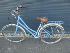 Blue and cream ladies Pendleton cycle