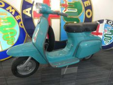 (1968) Lambretta J50 in green, 50cc, first registered in the UK in 2012, Registration XBY 458F,