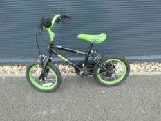 4031 - Small childs black and orange Apollo bike
