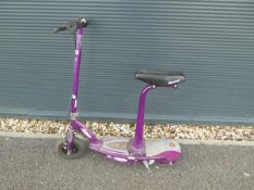 Purple Razor electric scooter (no charger)