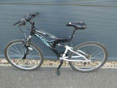 Activ black and white suspension mountain bike
