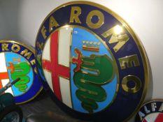 An Alfa Romeo moulded car sign, di. 170 cm