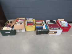 6 boxes containing a miscellaneous collection of local history books, biographies and novels