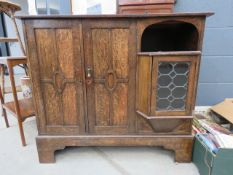 1920's oak sideboard with cupboard and shelf under A stand alone piece