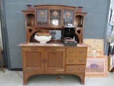 Commercial Arts & Crafts mirror back sideboard