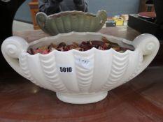 Cream glazed urn shaped plant pot