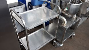 64cm Sissons stainless steel 2 tier trolley