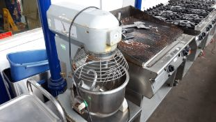 TN66 - 20qt mixer with bowl, 3 attachments on mobile table