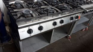 120cm gas 6 ring cooker on mobile stand