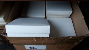 Large box containing 8'' square cake boxes