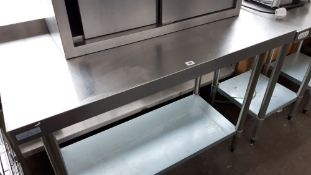 120cm stainless steel preparation table with shelf under