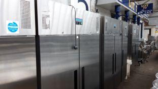 TN61 - 134cm Polar G595-02 2 door freezer with trays