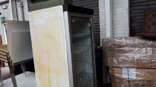 60cm single door display cabinet