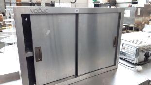 90cm stainless steel sliding 2 door wall mount cupboard