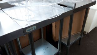 60cm stainless steel preparation table with shelf under