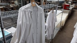 9 white bakers jackets size XL
