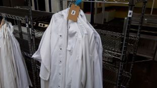 7 white bakers jackets, size XL