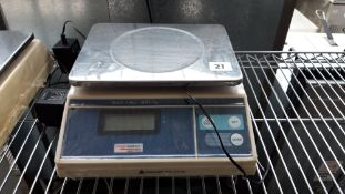 Weighstation 15kg capacity digital weighing scales