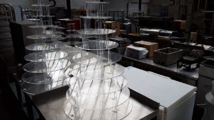 100cm tall 10 tier clear plastic cake stand