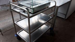 84cm stainless steel 3 tier trolley
