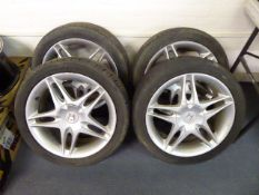 Set of four Honda 17'' alloy wheels with tyres