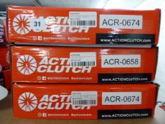 Three assorted Action Clutch clutch kits