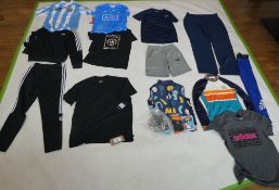 Selection of sportswear to include Nike, Adidas, Victory Chimp, etc (sizes on 2nd photo)