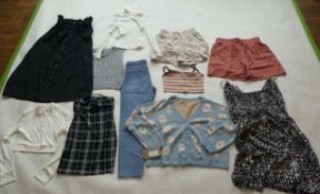 Selection of Shein clothing to include shorts, tops, dresses, etc (sizes on 2nd photo)