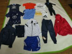 Selection of sportswear to include Adidas, Nike, Macron, etc (sizes on 2nd photo)