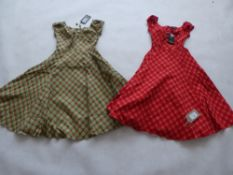 Collectif ladies dolores holiday check doll dresses sizes XS & M