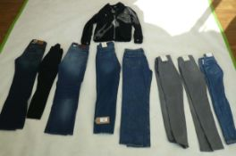 Selection of denim wear to include Dorothy Perkins, New Look, Raw, etc (sizes on 2nd photo)