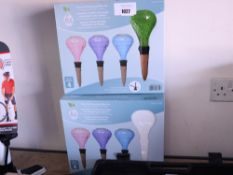 2 boxed plant self watering globe sets