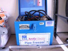 Cased Arctic electric pipe freezer