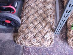 2 woven Jute door mats