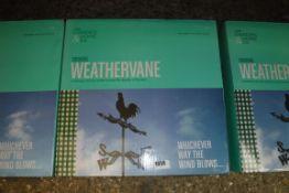 Boxed cockerel weather vane