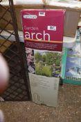 Boxed Gardman garden arch