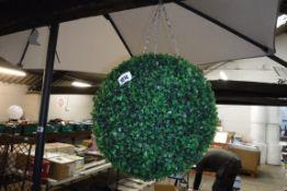 Artificial shrub hanging ball