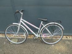 Revolution Elite grey and pink ladies bike