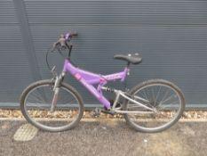 4026 - Purple suspension mountain bike
