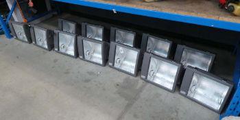 12 large Gewiss halide flood lights