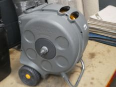 4104 - Grey Hozelock hose reel and hose