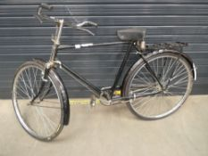 Black gents vintage bike