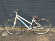 Beige and blue Clifton girls bike