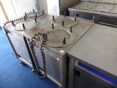56cm x 70cm Still double plate lowerator with heater on castors