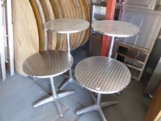 2 tall and 2 low 60cm diameter bistro tables