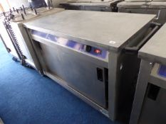 120cm electric Victor mobile hot cupboard with preparation top and sliding cupboards under