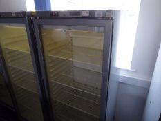 70cm Electrolux glass fronted display fridge on castors